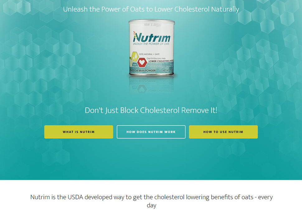 Nutrim | Unleash the Power of Oats to Lower Cholesterol